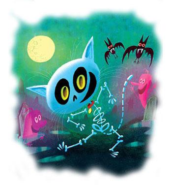 Skeleton Cat - Kristyn Crow's Website